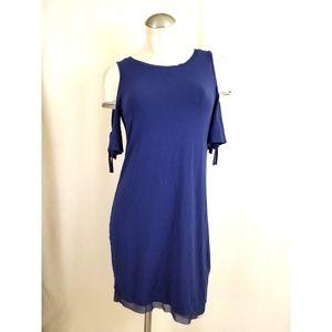 White House Black Market Sz S Cold Shoulder Dress